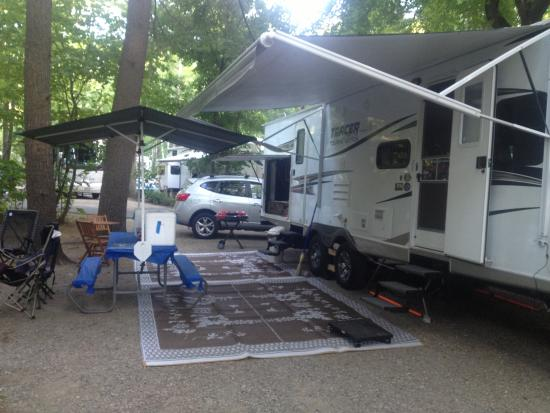 Our fall 2013 camp site picture of lake george rv park for Lake george cabins and rv park lake george co