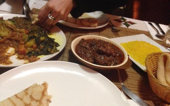 Spicy fish and beef picture of nyala 39 s african for African cuisine near me
