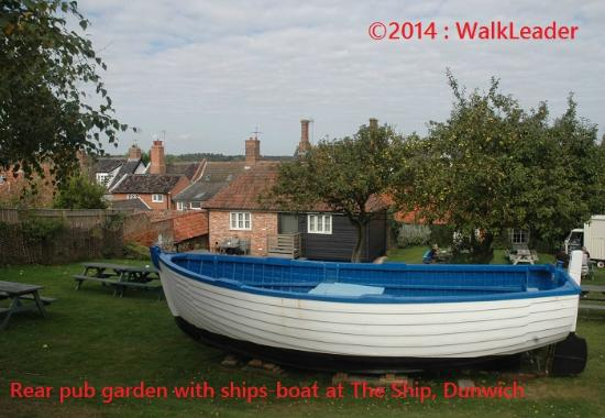 Ship Inn, Dunwich ~ rear garden with own Ship