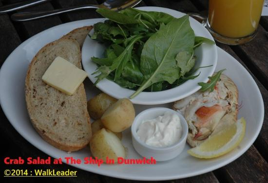 Ship Inn, Dunwich ~ Crab special salad