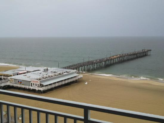 View of va beach fishing pier from our 8th floor room for Va beach fishing pier