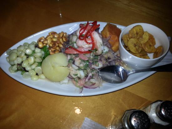 Kitchen sink ceviche picture of the golden chicken for Carolina fish fry wilmington nc