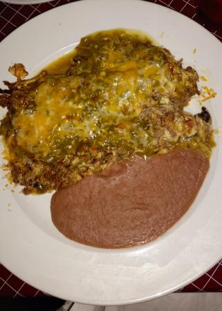 Machaca And Eggs Smothered In Green Chile Sauce Picture