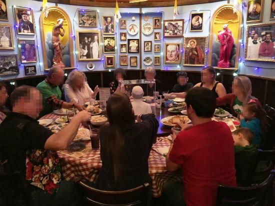 The pope room was awesome for our group of 14 picture of buca di beppo las vegas tripadvisor - Buca di beppo pope table ...