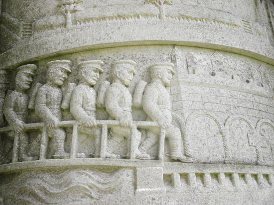 Sledmere, UK: A detail from the Waggoners monument