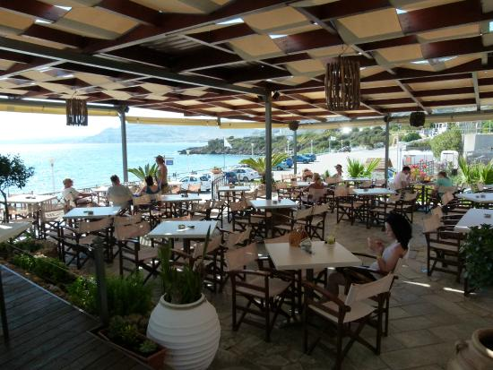 Lee Beach Cafe Pefkos Lee Beach Cafe Bar View of