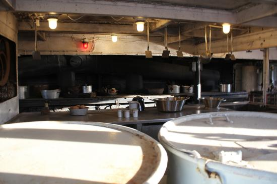 Kitchen area of uss texas picture of battleship texas for Attractions in la porte tx