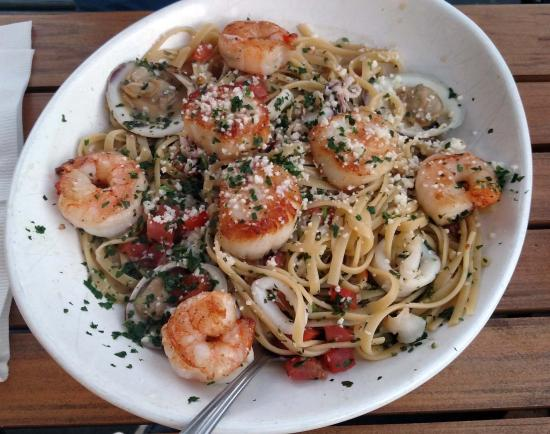 Spicy seafood linguini not the best picture of for Julington fish camp