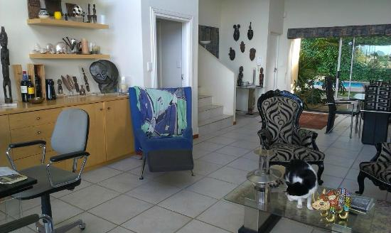 African Dreams: The lounge area (observe house cat :) )