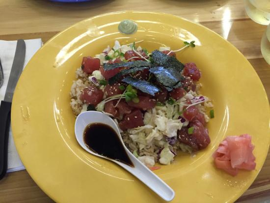 Poke bowl for Coconut s fish cafe