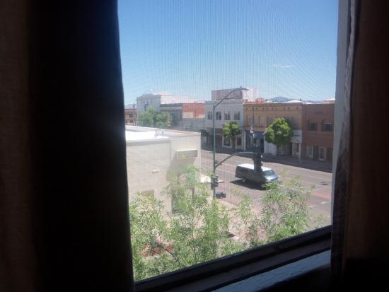 Gadsden Hotel: view out of the push-up window