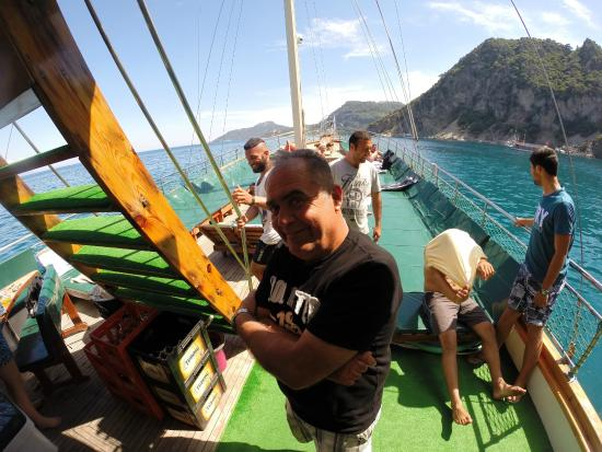 Jumping from the top - Picture of Mega Diana Boat Trip-Private Tours, Marmari...