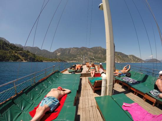 Chilling onboard - Picture of Mega Diana Boat Trip-Private Tours, Marmaris - ...