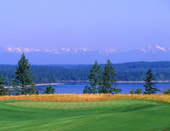 Dupont, WA: Hole 17 at The Home Course, site of the 2010 U.S. Amateur Championship (assisting Chambers Bay).