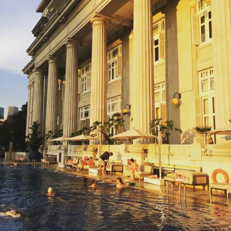 Swimming Pool In Fullerton Hotel Picture Of The Fullerton Hotel Singapore Singapore Tripadvisor