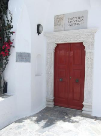 Aegean Maritime Museum: The front door, unfortunately shut