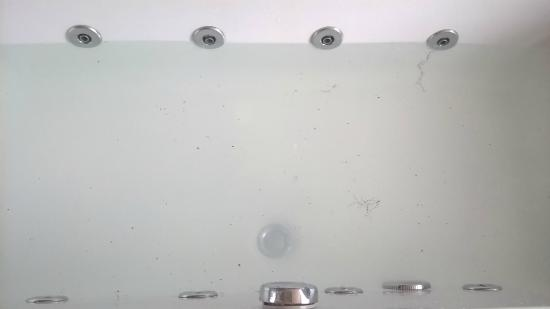 Cotehele Lodge: Mold in bath from Jacuzzi jets (Towan Suite)
