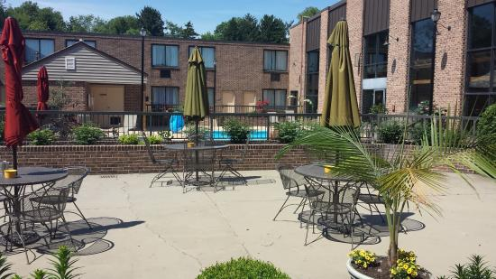 View From First Floor Room To Outdoor Pool