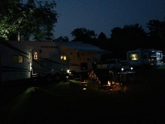 Copake KOA at night