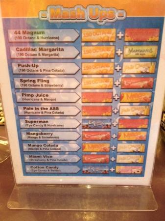 Fat Tuesday Drink Menu Vegas
