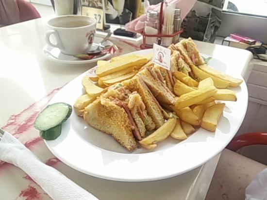 Club sandwich picture of tea for two paphos tripadvisor for Club sandwich fillings for high tea