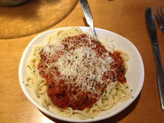 Spaghetti Lunch Portion Picture Of Olive Garden