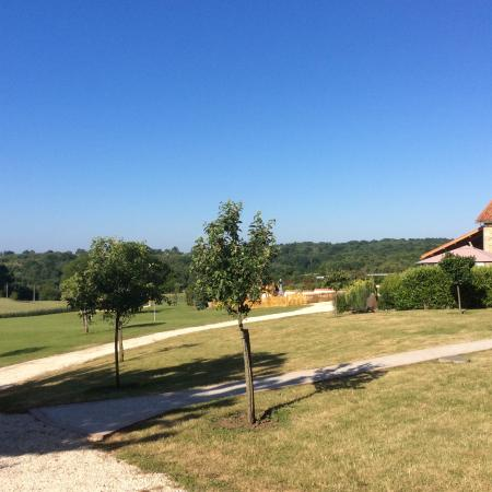 Le Lindois, France: The view from the bedroom.