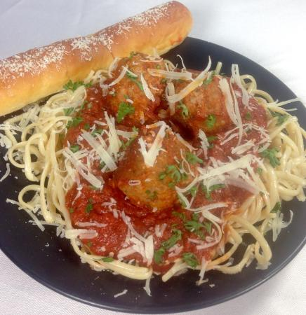 Sarona, WI: Try our delicious spaghetti & meatballs!  We make our sauce from scratch, the old fashioned way