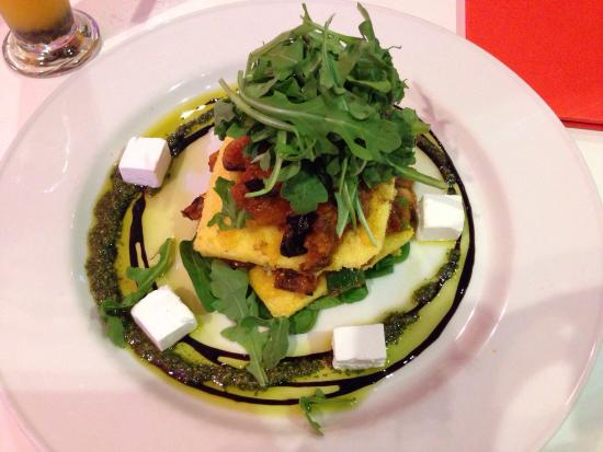 Vegetable polenta stack - Picture of The Groove Train, Surfers ...
