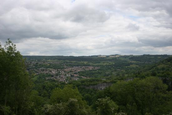 Carsington, UK: View of Matlock from Abraham Heights