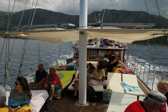 Comfortable sailing - Picture of Kas Daily Boat Tours with ...