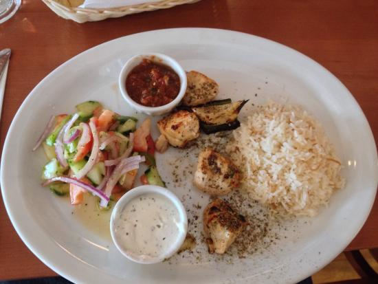 ... Turkish & Mediterranean Grill: Lunch chicken kabob and Turkish salad