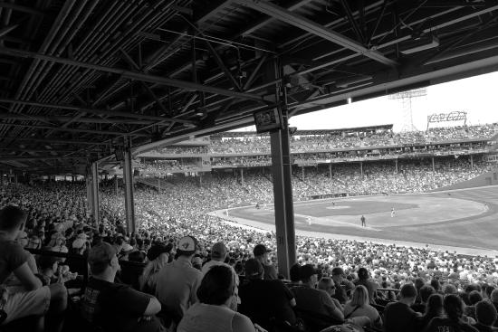 Black and White Taken From Our Seat in the Outfield ...