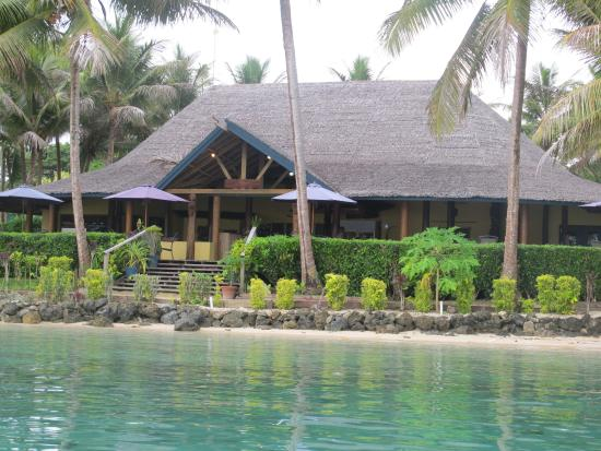 Aore Island Resort: Your initial view of the resort