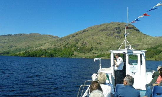 Loch Lomond and The Trossachs National Park, UK: The boss himself explaining