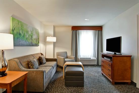 Suite living room picture of homewood suites omaha for The family room church omaha