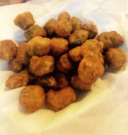 fresh fried okra - Picture of Gus' World Famous Fried Chicken ...