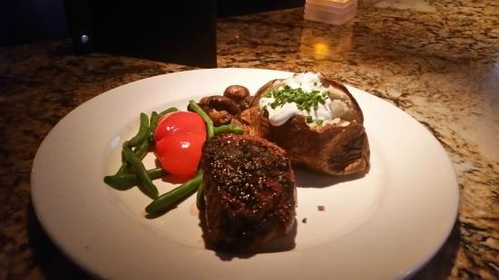 oz. filet mignon and baked potato - Picture of The Keg Steakhouse ...