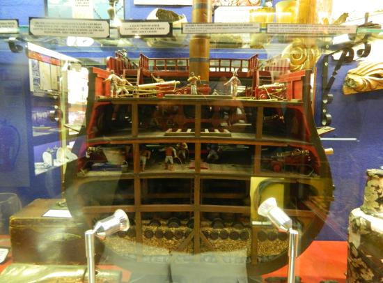 St Austell, UK: Cross Section of an old Sailing Ship
