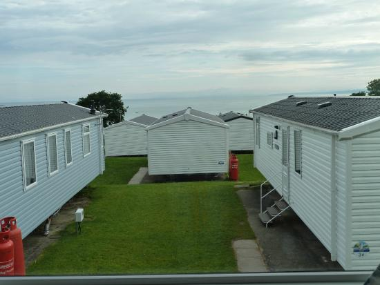 view from caravan window picture of quay west holiday. Black Bedroom Furniture Sets. Home Design Ideas