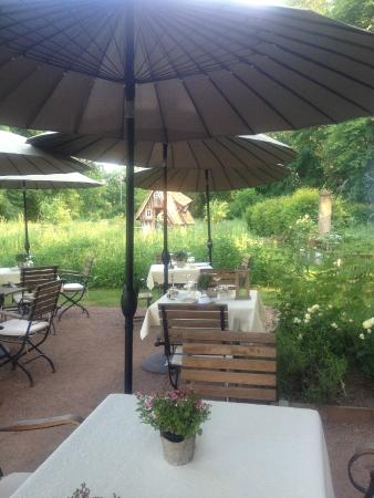 Terrasse jardin picture of du cote de chez anne for Restaurant paris terrasse jardin