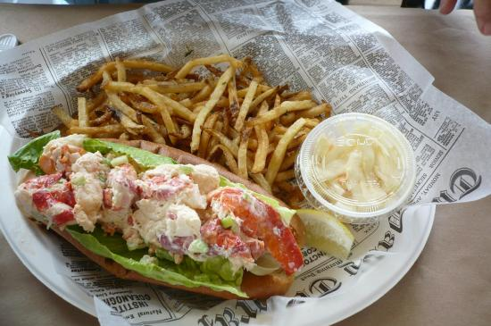 Lobster roll picture of southold fish market southold for Fish market hours