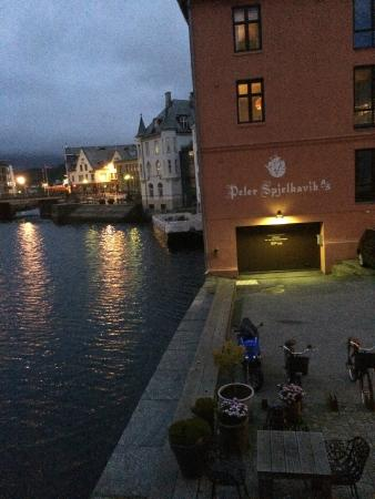 Hotel Brosundet: View from room 207 at 1:00am