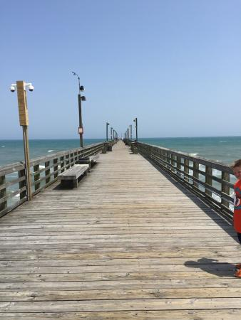 Wooden walkways picture of surf city pier surf city for Surf city pier fishing report