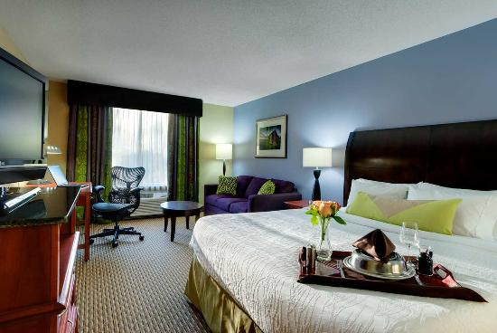 King Room With Sofa Bed Picture Of Hilton Garden Inn Raleigh Durham Airport Morrisville
