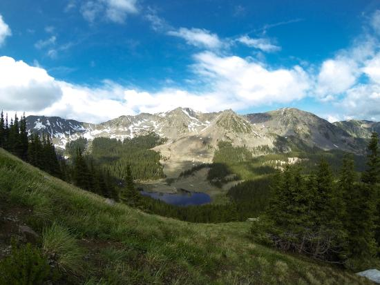 Taos County, NM: View while you are hiking to the top