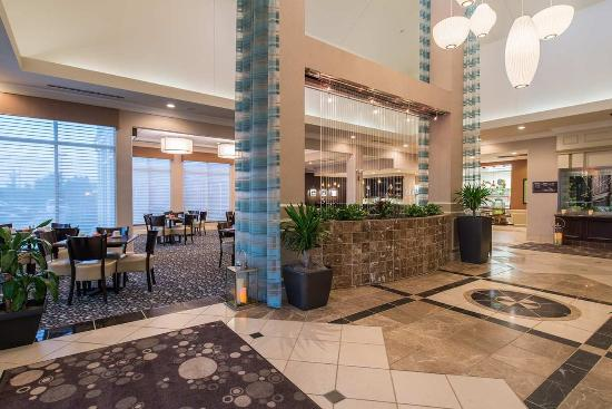 Lobby Water Feature Picture Of Hilton Garden Inn