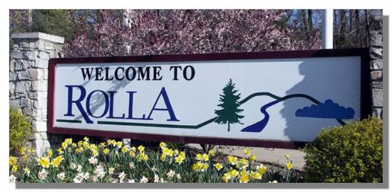 Rolla, MO: Welcome Sign
