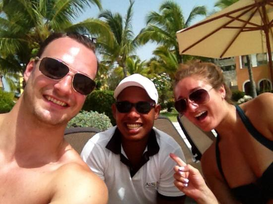 Sanctuary Cap Cana: With JC at the pool