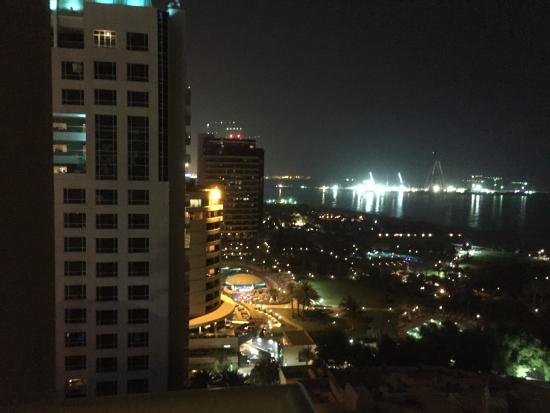 Night view from the balcony of our 14th floor room for 14th and grand salon